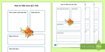 How To Take Care of a Fish Fact File  - Pets, pet, EYFS, KS1, take, care, look, after, family, member, members, vet, vet surgery, surgery, i