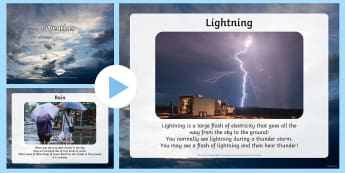All about Weather PowerPoint - Understanding the World, The World, Weather, Sun, Rain, Wind, Snow, Senses, Familiar World, Photos,