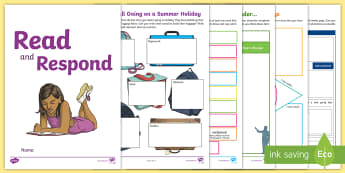 Year 4 Read and Respond Activity Pack - Y4, LKS2, response, activities, worksheets, home, consolidate