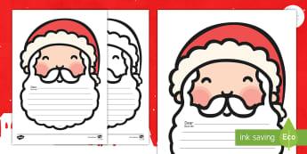 Letter to Santa Writing Templates English/Portuguese - Letter To Santa Template - writing,letter to santa, write your own letter to santa, wishlist, christ