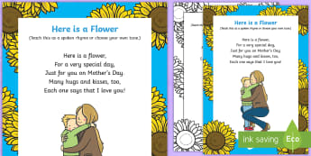 Here Is a Flower Rhyme - Mother's Day, Flowers, here is a flower, rhyme, song, lyrics