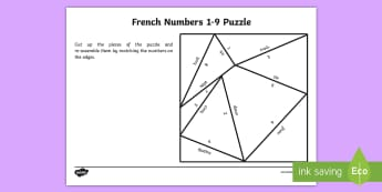 French Numbers 1 to 9 Puzzle-French - KS2, French, Resources,numbers, 1 to 9, puzzle,French