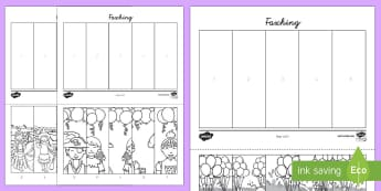 Fasching Number Sequencing Puzzle - Carnival, Communication and Literacy,Songs and Dance, Festivals, Culture and Language, Sleeping Beau