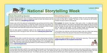 National Storytelling Week Ideas - National Storytelling Week, storytelling, ideas