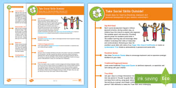 Take Social Skills Outside KS1 Teaching Ideas - outdoor, outdoor classroom, learning, outdoor learning, environment,social skills, interaction, comm, outdoor learning