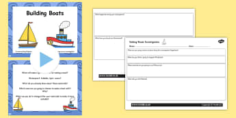 Everyday Materials Building Boats Task Setter Activity Flipchart