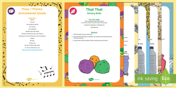 Phase 1 Phonics: Environmental Sounds Sensory Bin and Resource Pack - sensory play, letters and sounds, phonics, everyday sounds, Aspect 1,