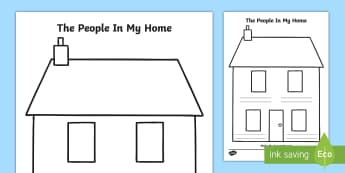 The People In My Home Activity Sheet - Grade 1 Social Studies, social studies, family, home, house, family, family member, brother sister,