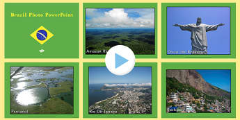 Brazil Display Photo PowerPoint - world cup, football, geography