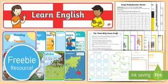 Free English and Spanish (Latin) Taster Resource Pack - Freebie, Sample, Taste, Test, Tester, Try, Bumper, Learning