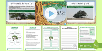 The Tree of Life   Myth Writing Lesson Pack - All About Bahrain, tree of life, writing, ks2