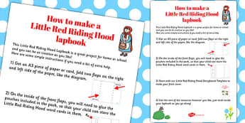 Little Red Riding Hood Lapbook Instructions Sheet - lapbooks