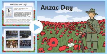Anzac Day Information PowerPoint Upper School - australia, ANZAC Day, commemoration, First World War, WW1, World War One, information, PowerPoint, History, Dawn Service, parade, Gallipoli