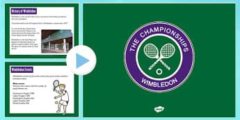 Wimbledon PowerPoint - wimbledon, powerpoint, tennis, event