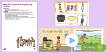 The Magic Porridge Pot Matching Busy Bag Resource Pack for Parents -  pairs, activity, turn taking, toddler games, preschool games