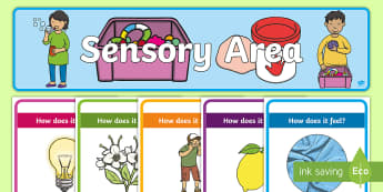 Sensory Table Poster Display Pack - Australia EYLF General,Australia, soft, hard, rough, smooth