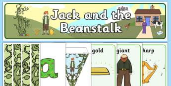 Jack and the Beanstalk Classroom Display - - jack and the beanstalk, giant, magic beans,