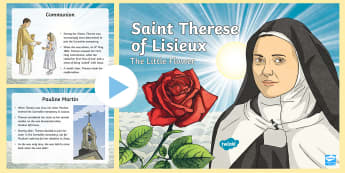 Saint Therese of Lisieux PowerPoint - st therese, religion, assembly, alive o, grow in love, lives of saints, catholic, Catholicism, Irish