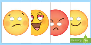 Emoticon Face Role Play Masks - emojis, transition, photo booth, end of year, leaving, moji
