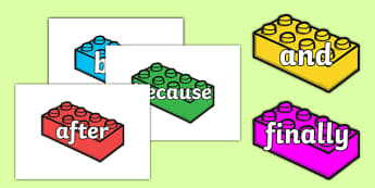 Conjunctions on Building Bricks - conjunctions, connectives