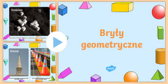 Prezentacja PowerPoint ze zdjęciami Bryły geometryczne - Polish - PowerPoint, prezentacja, pp, ppt, multimedialna, tablica, biała, matematyka, liczby, liczenie, zdj