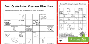 Christmas Compass Activity -Compass Point