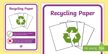 Recycling Paper Display Poster - tidy kiwi, New Zealand, rubbish, recycling, Years 1-6,