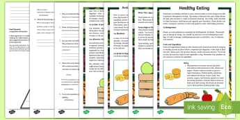 Healthy Eating Differentiated Reading Comprehension Activity English/French - test, english, non-fiction, questions, answers, EAL French,Irish-translation