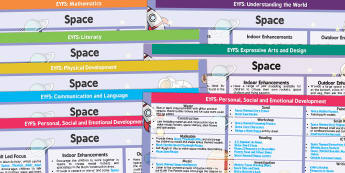 Space Lesson Plan and Enhancement Ideas EYFS - planning, space, lesson plan, EYFS, ideas