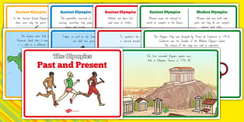 The Olympics Past and Present - nz, new zealand, Olympics, Olympic Games, past and present, history, history of the Olympics, past, present, sports, Olympic, London, images, editable, event, picture, 2012, activity, Olympic torch, medal, Olympic Ring
