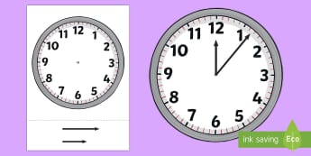 Blank Analogue Cut-Out Clocks (with hands) - Time resource, Time vocaulary, clock face, O'clock, half past, quarter past, quarter to, shapes spaces measures, numeracy, time, clocks