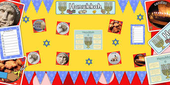 Ready Made Hanukkah Display Pack - ready made, hanukkah, display