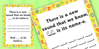 New Sound Rhyme Writing Template - new sound, rhyme, template, song, sing