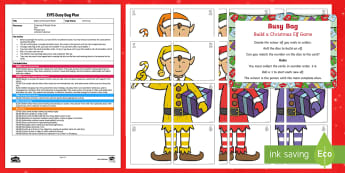 EYFS Build a Christmas Elf Numeral Busy Bag Plan and Resource Pack - Christmas, Xmas, Santa, Elves, elf on the shelf, kindness elves, Maths, Number Recognition, Numbers,