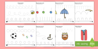* NEW * Making letter shapes Pencil Control Activity Sheets - English / Spanish  - Pencil Control Worksheets - Handwriting, tracing lines, lines, pencil contol, line guide, fine motor