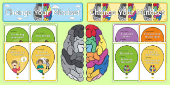 Developing Growth Mindset Balloons Display Pack - growth mindset, balloons, display, display ideas, classroom set up
