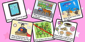 What If Conversation Visual Support Cards - learning support, SEN