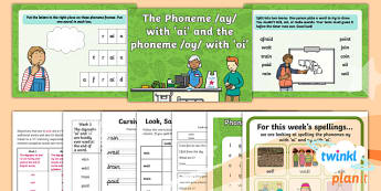 PlanIt Y1 Term 1B W1: 'ai' and 'oi' Spelling Pack