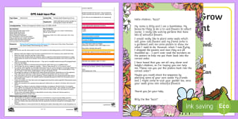 Planting Seeds Sequencing Activity Adult Input Plan and Resource Pack - EYFS, Early Years Planning, Orders And Sequences Familiar Events, Maths, Mathematics, 40-60, Adult L