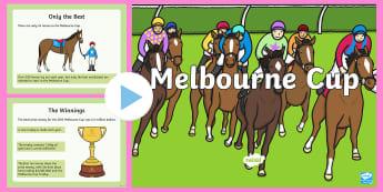 F-2 Melbourne Cup PowerPoint - Melbourne Cup, melbourne, Australia, events, horse, races, information