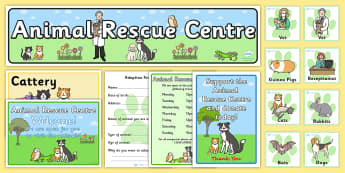 Animal Rescue Centre Role Play Pack - animals, roleplay, packs