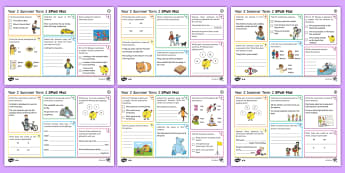 Year 2 Summer Term 2 SPaG Activity Mats - KS1, Key Stage 1, key stage one, year 2, Y2, year two, SPaG, spelling, punctuation, grammar, reading