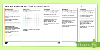 Year 6 Ratio and Proportion Differentiated Maths Mats - percentage, percentages, assessment, Planning, scale, sharing, Grouping - percentage, percentages, assessment, Planning, scale, sharing, Grouping