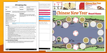 Chinese New Year Addition to 10 Board Game EYFS Adult Input Plan and Resource Pack - chinese new year, addition, board game