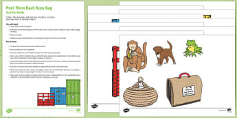 Post Them Back Busy Bag Resource Pack for Parents - Dear Zoo, Rod Campbell, animals, letter to the zoo, in and out, posting, box