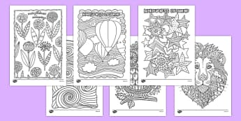 Adult Colouring Mindfulness Resource Pack - behaviour and organisation, colouring, colour, relax, mindful, calm, calming, adult, adult mindfulness