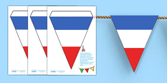 French Flag Bunting -french flag, bunting, bunting with french flags, french bunting, flag bunting, classroom bunting, france bunting, classroom decoration