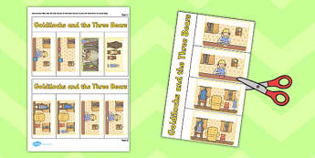 Goldilocks and the Three Bears Story Lift the Flap Activity- flap book