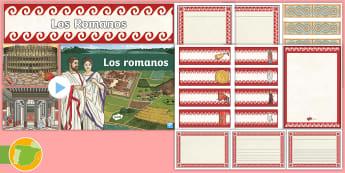 Pack editable: Los romanos - Roman Spain, Ancient Rome, Cuarto Curso Primaria, Social Science, Ciencias Sociales, Antigua Roma, r