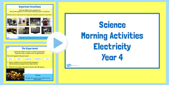 Year 4 Early Morning Science Activities Electricity - electric